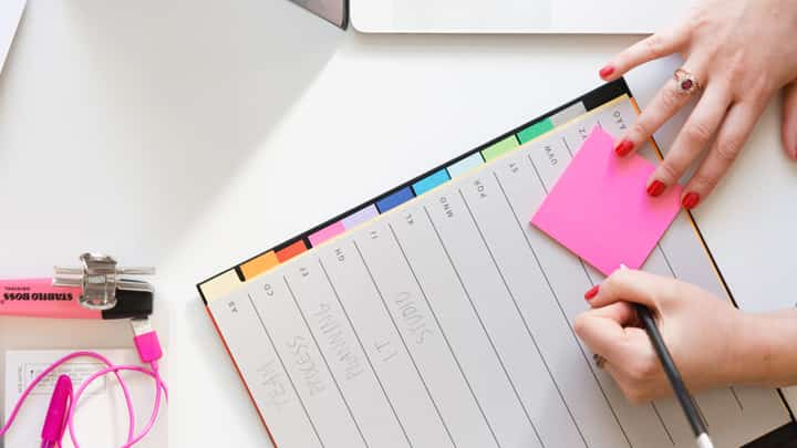 Writing on a pad