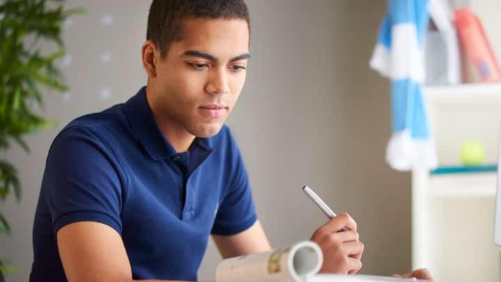Student looking pensive