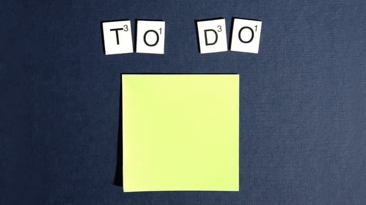 the words to do and a yellow post-it note